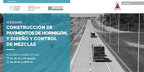 CONSTRUCCIÓN DE PAVIMENTOS DE HORMIGÓN, Y DISEÑO Y CONTROL DE MEZCLAS entradas