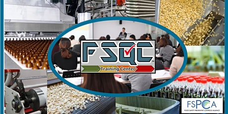 FSPCA Preventive Controls for Human Food tickets