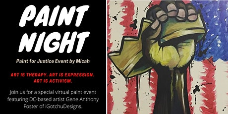"Paint for Justice Virtual ""Paint Night"" Event tickets"
