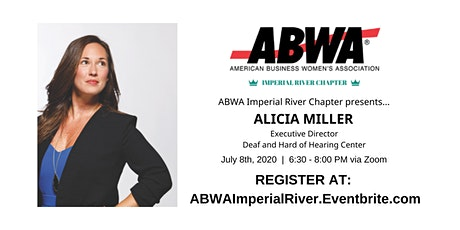 Alicia Miller, Executive Director at the Deaf and Hard of Hearing Center tickets