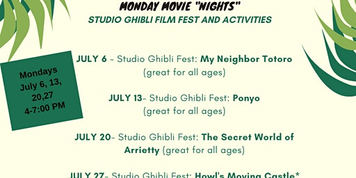 Monday Movie Nights: Studio Ghibli