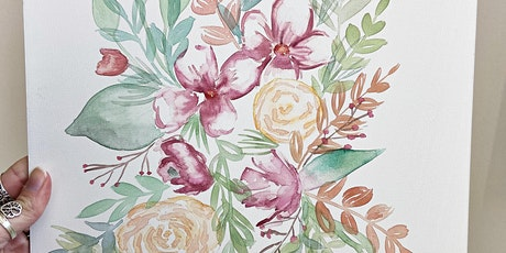 Watercolor Florals Paint Class with AJ & Co. tickets