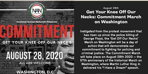 """'Get Off Our Necks' March on Washington """" Syracuse and Buffalo NAN Chapters"""