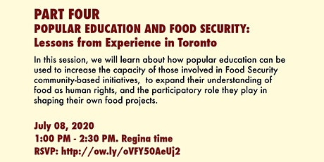 Righting Relations With Our Food: Popular Education and Food Security tickets
