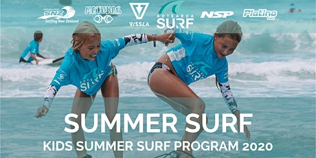 Kids Summer Surf Program (ages 6-15) at Te Arai tickets