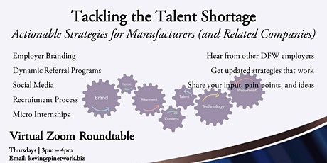 Tackling the Talent Shortage for DFW Manufacturing Companies tickets