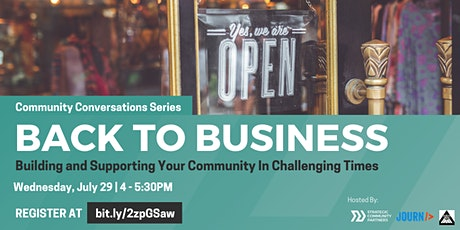 Community Conversations: Back to Business tickets