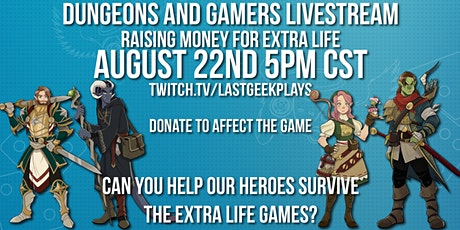 Dungeons and Gamers for Charity - The Extra Life Games tickets