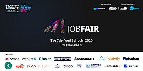 Hong Kong Tech & Startups Job Fair #13: Creating Impact tickets