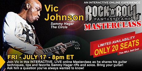 Masterclass with Vic Johnson of Sammy Hagar and The Circle tickets