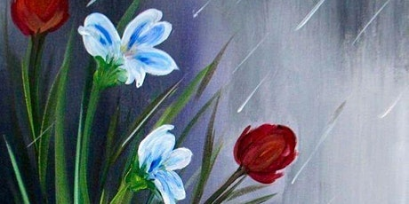 Virtual Paint Night - Flowers in the Rain tickets