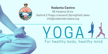 Yoga class a the Vedanta Centre tickets