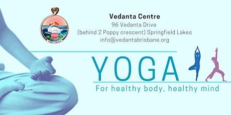 Yoga class a the Vedanta Centre tickets