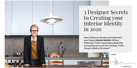 Creating your Interior Identity - with Anna-Carin tickets