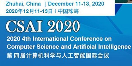 2020 4th Intl. Conf. on Computer Science & Artificial Intelligence tickets