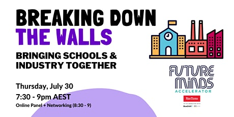 Breaking down the walls :: Bringing schools and industry together tickets