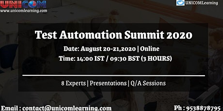 Test Automation Summit 2020 tickets