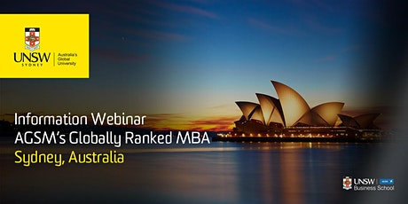 AGSM Full-Time MBA Information Webinar tickets