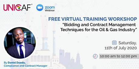 Bidding and Contract Management Techniques for the Oil & Gas Industry tickets