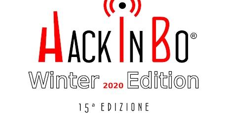 """HackInBo® """"Sicurezza all'ombra delle Torri"""" Winter Edition 2020 biglietti"""