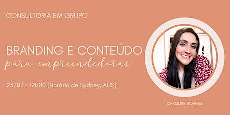 Consultoria em grupo - Branding & Conteúdo bilhetes