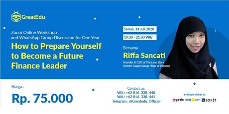 (Paid Online Workshop) Prepare Yourself to Become Future Finance Leader tickets