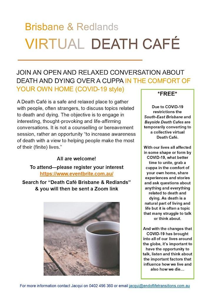 Virtual Death Cafe Brisbane & Redlands image