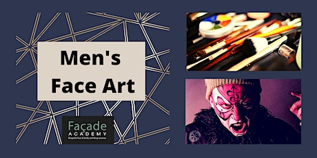 Facade Academy Online - Men's Face Art (12pm) tickets