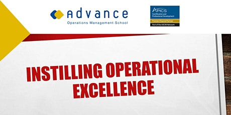 Presentation: Instilling Operations Excellence in your company  ENG WEBINAR tickets
