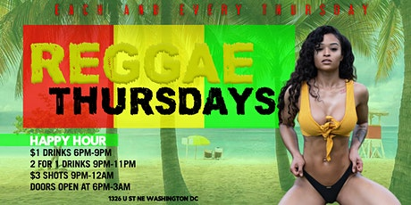 Reggae Thursdays @ Pure Lounge | 2 for 1 Drink Special tickets