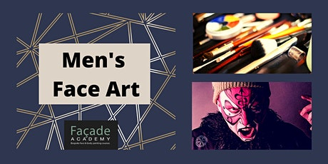 Facade Academy Online - Men's Face Art (8pm) tickets