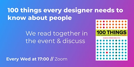 UX Book Club // 100 things every designer needs to know about people tickets