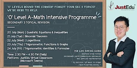 'O' Level A-Math Intensive Programme (Topical) entradas
