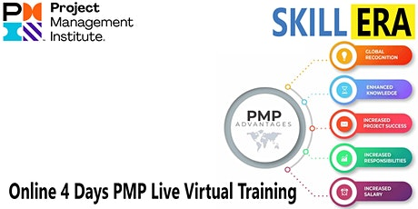 Online 4 Days PMP Live Virtual Training® in Pasadena, CA | SkillERA tickets