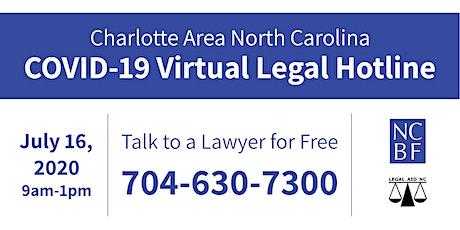 Charlotte COVID-19 (Virtual) Legal Hotline tickets