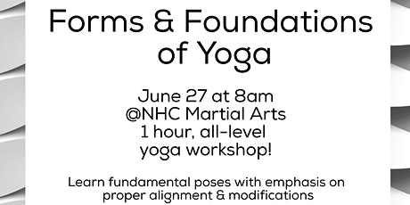 Form and foundation Yoga (all levels) tickets