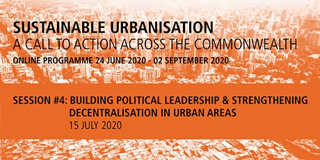Commonwealth Sustainable Urbanisation Online Programme: Session 4 tickets