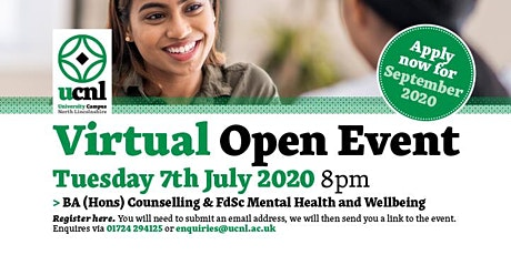 BA (Hons) Counselling / FdSc Mental Health and Wellbeing tickets