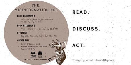 Book To Action Series - The Misinformation Age: How False Beliefs Spread tickets