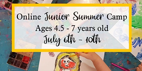 Junior Online Summer Arts and Craft Camp - Ages 4.5 - 7 tickets