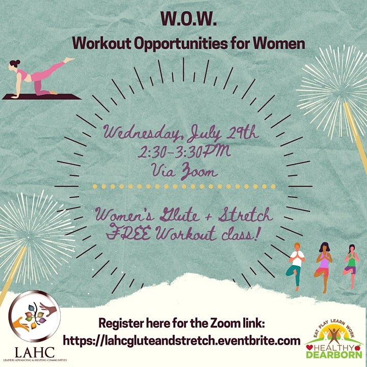 Women's Glute and Stretch Workout Class! image