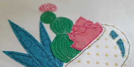 Miss Maker - Introduction to Free Motion Embroidery, Cute Cactus tickets