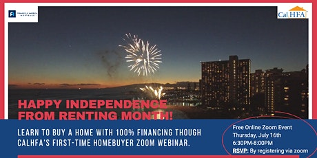 Free CalHFA First-Time Homebuyer Zoom Webinar- July 2020 tickets