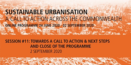 Commonwealth Sustainable Urbanisation Online Programme: Session 11 tickets