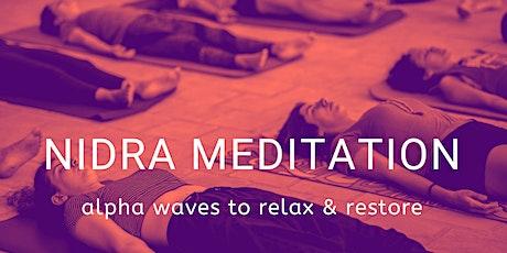 Nidra Meditation  - Deep Relaxation (Weekly on Wednesdays 6pm BST) ingressos