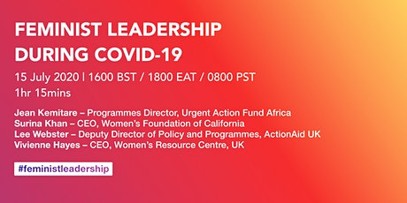 Feminist leadership during Covid-19 tickets