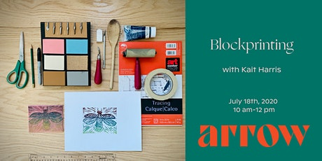 Blockprinting with Kait Harris - Powered by Arrow tickets