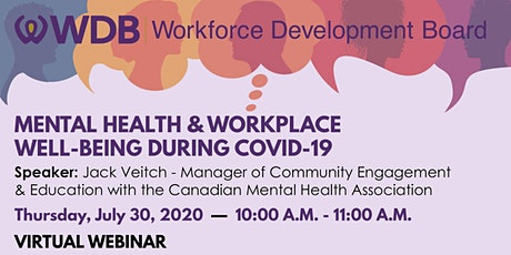 Mental Health & Workplace Well-Being During COVID-19 tickets