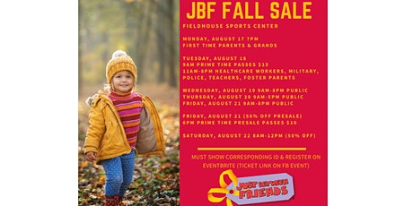 JBF Fall Sale 2020-Reserve Passes Here tickets
