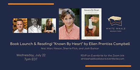 "Book Launch & Reading! ""Known By Heart"" by Ellen Prentiss Campbell tickets"